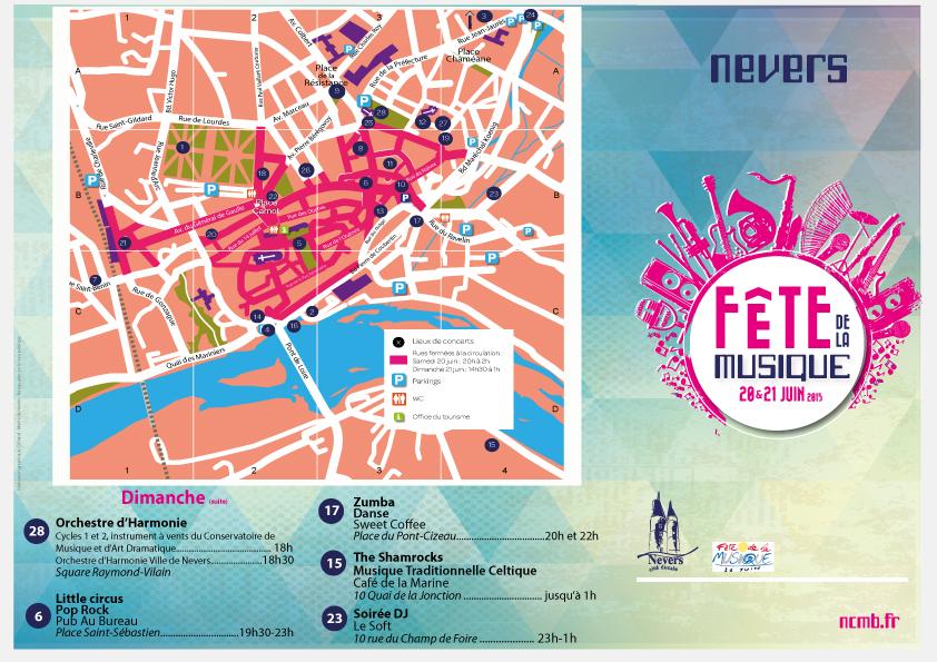 programme de la Fête de la musique à Nevers